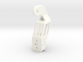 Beckson Port Hinge Bracket in White Strong & Flexible Polished
