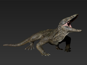 Asprosaurus middle size in White Strong & Flexible