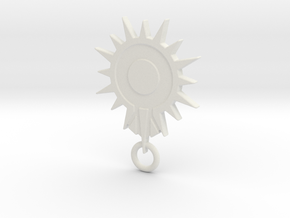 Blacksun Fan Keychain in White Strong & Flexible