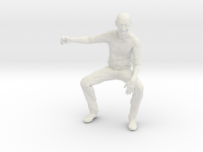 Bald Guy sitting SE scale in White Strong & Flexible