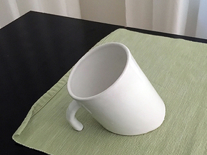Cup Titanic in Gloss White Porcelain