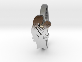 Mother-Infant Ring - Motherhood Collection in Polished Silver