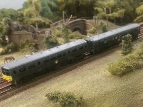 Derby Lightweight DMU - 2 Car Set - Z - 1:220 in Frosted Ultra Detail