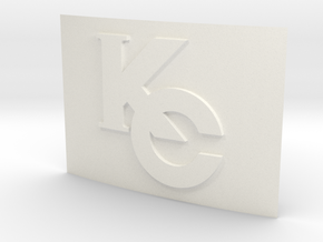Smaller Kaiba Corp Belt Buckle in White Strong & Flexible Polished
