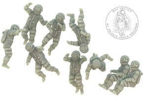 Generic Astronauts / Free Floating / 1:87 H0 in White Strong & Flexible