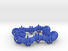 Twisting Links Fidget (12) - Helix in Blue Strong & Flexible Polished