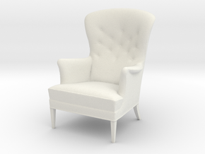 1:24 - Heritage Chair -  Frits Henningsen. in White Strong & Flexible