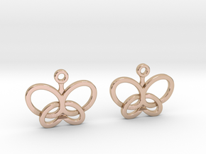 Custom Logo Earrings in 14k Rose Gold Plated