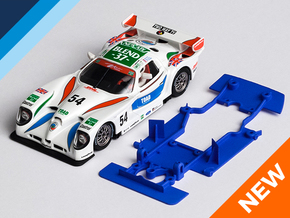 1/32 Fly Panoz GTR-1 Chassis for slot.it pod in Blue Strong & Flexible Polished