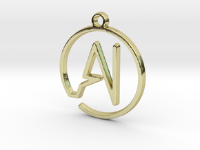 A & I Monogram Pendant in 18k Gold Plated