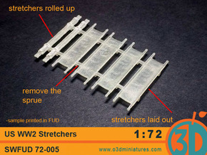 US WW2 Stretchers 1/72 scale SWFUD-72-005 in Frosted Ultra Detail