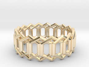 Geometric Ring 4- size 7 in 14K Gold