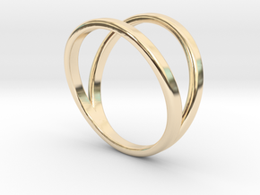Split Ring Size 10 in 14k Gold Plated
