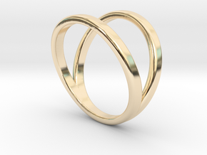 Split Ring Size 8 in 14k Gold Plated