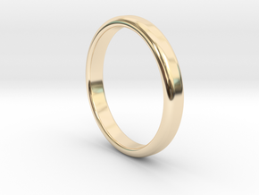 Simple Band Size 7 in 14k Gold Plated