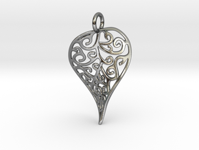LeafPendant in Polished Silver