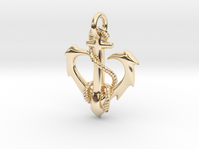 anchor heart in 14k Gold Plated