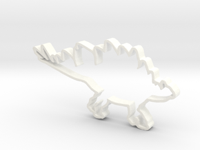 Stegosaurs cookie cutter in White Strong & Flexible Polished