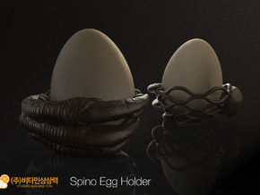 Spino Egg Holder in White Strong & Flexible