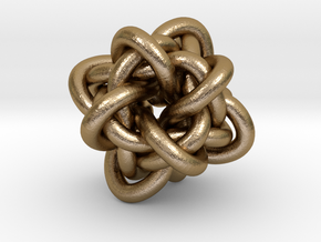 Gordian Knot in Polished Gold Steel