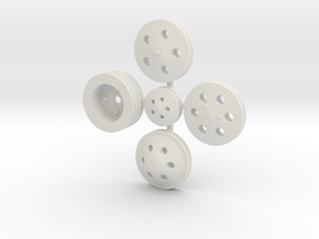 Billet Pulleys 1/24 in White Strong & Flexible