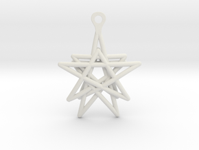 3D Printed Star in the Universe Earrings by bondsw in White Strong & Flexible