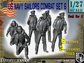 1/27 US Navy PT Boat Crew Set6 in White Strong & Flexible
