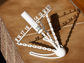 Chained Sundial in White Strong & Flexible