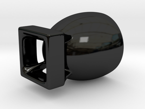 Bomb Espresso Cup in Gloss Black Porcelain