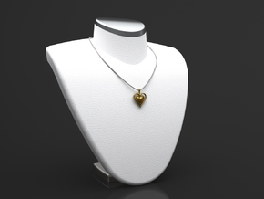 Spade Heart Pendant in Polished Gold Steel