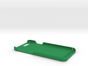 Cover for iPhone 6  (embossed logo and side text) in Green Strong & Flexible Polished