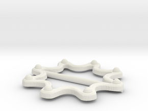 Yara Buckle in White Strong & Flexible