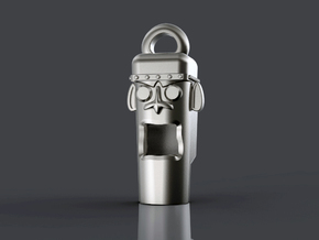 Mayan Head Whistle in Stainless Steel