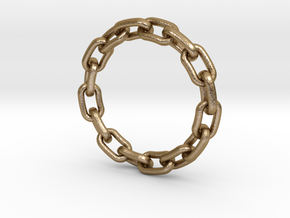 Chain Ring 25mm in Polished Gold Steel