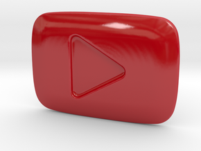 Porcelain YouTube Play Button Award in Gloss Red Porcelain