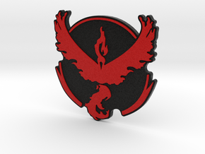 Pokemon Go - Team Valor Badge 2 in Full Color Sandstone