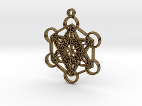 Metatron's Cube in Raw Bronze