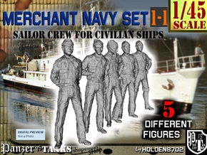 1-45 Merchant Navy Crew Set 1-1 in Frosted Ultra Detail