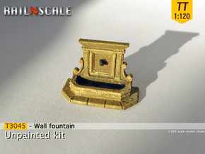 Wall fountain (TT 1:120) in Frosted Ultra Detail