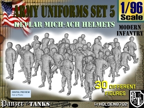 1-96 Army Modern Uniforms Set5 in Frosted Ultra Detail