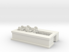 Overlook Bar Base - HO 87:1 Scale in White Strong & Flexible