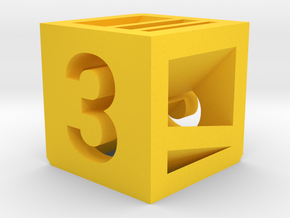 Photogrammatic Target Cube 3 in Yellow Strong & Flexible Polished