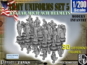 1-200 Army Modern Uniforms Set5 in Frosted Extreme Detail