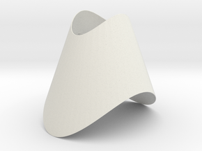 Pendant-Cone-OvalCut-Twisted in White Strong & Flexible