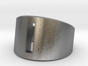 Prime Ring - Rectangle Hole in Raw Silver
