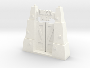 Jurassic Park Gate (big) in White Strong & Flexible Polished