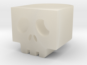 Cubic SkullRing US Size 6½ in White Acrylic