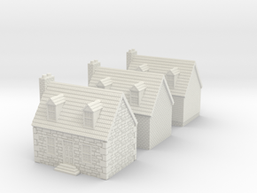 10mm Colonial Houses For Rusty in White Strong & Flexible