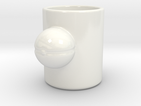 Pokemon Pokeball Mug in Gloss White Porcelain