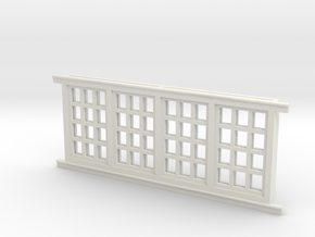 Red Barn Window Section 4x3 - 72:1 Scale in White Strong & Flexible